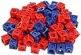 Dick-System 170100 100 Steckwürfel, rot/blau