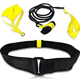 Schwimmgürtel für stationäres Widerstandstraining oder Rundentraining - mit Bremsschirm und Elastikband - für Erwachsene und Kinder, Profis, Amateure, und die Nutzung in der Freizeit