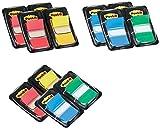 Post-it 680-P12 Index Promotion (12 x 50 Haftstreifen im Spender, 25,4 x 43,2 mm, davon 4 Spender gratis) farblich sortiert