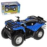 Welly Kawasaki Prairie 400 Quad ATV Blau 1/19 1/18 Modell Motorrad mit individiuellem Wunschkennzeichen