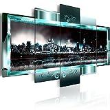 murando - Bilder 200x100 cm - Leinwandbilder - Fertig Aufgespannt - Vlies Leinwand - 5 Teilig - Wandbilder XXL - Kunstdrucke - Wandbild - New York Abstrakt 020111-29