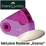 Faber-Castell 182701 - Doppelspitzdose Sleeve, farblich sortiert in rot und blau -keine Farbauswahl möglich-