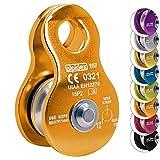 Seilrolle Mobile Pulley Helios von Alpidex Umlenkrolle, Farbe:orange