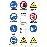 Baustellen-Sicherheitsschild ISO 7010, Kunststoff, 120x75 cm