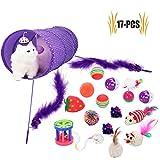 Legendog Katzenspielzeug Set, 17 Stück Katzen Spielzeug   Katzenangel Maus Bälle Katzenspielzeug   Spiele für Kitten
