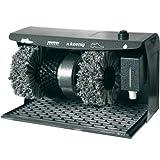H.Koenig U600 Schuhputzmaschine / Reinigen und Polieren / Auffangmatte / Schuhcreme-Spender / 120 W / anthrazit
