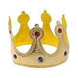 STOBOK Geburtstag Königskrone Hüte für Kinder Erwachsene Party Dekorationen(Gelb)