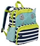 Lässig Medium Backpack Kinderrucksack Kindergartentasche, Little Monsters, Navy Türkis