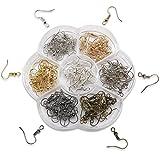 TOAOB 140 Stück Ohrring Haken Ohrhaken Ohrhänger 7 Farben mit Aufbewahrungsbox für Basteln Ohrring Schmuckherstellung