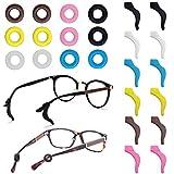 FineGood 12 Paar Brillenhalter Silikon Anti-Rutsch-Brillen Bügel Tips Sport Sleeve Retainers für Brillen Sonnenbrillen Lesebrille