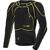 Safe Max Motorrad Protektorenhemd Unterziehjacke mit Protektoren 1.0, Level 2, extrem funktional, Schulter-, Ellbogen- und Rückenprotektor, luftig, atmungsaktiv, Schwarz, L