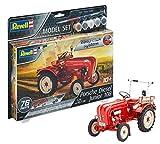 Revell 67820 Porsche Junior 108, Traktor Modellbausatz für Einsteiger mit dem Easy-Click-System, 1:24/10,7 cm