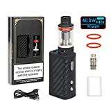 COV MV E Zigarette/E Shisha Starter Set 40W Mod Dampfer Vape Elektrische Zigaretten Kit, ohne Nikotin - Schwarz
