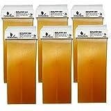Dermawax Honig 6x 100 ml Wachspatronen, Warmwachspatronen, Enthaarungswachs, Haarentfernung Warmwachs 100ml