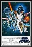 Star Wars - Orange Sword of Darth Vader - Filmposter Kino Movie Science Fiction Sci Fi - Grösse 61x91,5 cm + Wechselrahmen, Shinsuke Maxi Kunststoff schwarz, Acryl-Scheibe