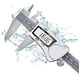 Schieblehre Messschieber Digital - Edelstahl Wasserdicht Messlehre IP54, 150 mm Hochpräzise, Rostfrei Meßschieber Messwerkzeug, Noniusschieber LCD Bildschirm für Industrie Messung Labor