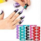 Hacoly Nail protector Tapes Nagellack einfach Schablone Nägel Latex Tape Skin Cover für Perfekter Fingerschutz Verhindern Sie dass Nagellack Ihre Hände verunreinigt - Zufällige Farben