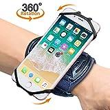 """Sport Armband, Bovon 360° Rotation Handgelenk Handytasche für iPhone XS Max/XR/XS/X, Galaxy Note 9/S9/S8 Plus & andere 4""""-6.5"""" Telefone, Handy armband mit Schlüsselhalter für Joggen Radfahren(Schwarz)"""