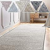 casa pura Teppich Läufer Sundae | Meterware | Teppichläufer für Wohnzimmer, Flur, Küche usw. | kuschlig weich | mit Stufenmatten kombinierbar (Silber - 66x200 cm)