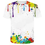Chicolife Unisex 3d Graffiti entworfene Grafik-kühle kurze Hülsen-T-Shirts T-Stücke