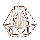 MiniSun – Retro, schöner und kupferfarbiger Lampenschirm in Korbform aus Metall – für Hänge- und Pendelleuchte