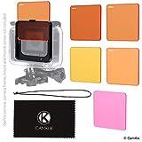 Objektivfilter-Set zum Tauchen für GoPro Hero 6 / 5 - Optimiert die Farben unter Wasser - Leuchtende Farben, verbesserte Kontraste, Nachtsicht - Verwendung mit wasserdichtem Gehäuse (Super Suit)