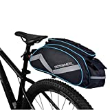 Bicycle Waterproof Rear Seat Trunk Bag with Should Strap, Blue
