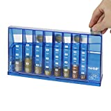 HMF 4710-05 Münzsortierer Euro Spardose 24,0 x 5,0 x 12,0 cm, blau
