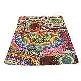 indischen Patch Work Baumwolle Kantha Quilt Tween Tagesdecken Überwurf Decke (Multi Floral) Bohemian Tagesdecke, Bohemian Betten, handgefertigt kantha Steppdecke