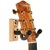 String Swing - Gitarrenhalterung zur Wandbefestigung für Akustik- und E-Gitarren - CC01K Guitar Hanger - Hergestellt in den USA - Eiche - Doppelpack