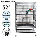 Dawoo Innenhof 52-Zoll-Vogelkäfig schwarz