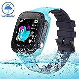 Jaybest Kinder Smartwatch IP68 imprägniern Telefon Uhr,Touch LCD Kid Smart Watch für Jungen Mädchen mit LBS Tracker SOS Anruf Kamera Anti-Lost Voice Chat(Blue)