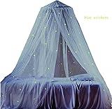Ledyoung Moskitonetz Netze Moskitoschutz für Baby Kid Kinder Leuchtende Sterne Netze Bett Canopy Netting Outdoor Urlaub Reisen, weiß (weiß)