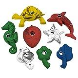 ALPIDEX 8 Kinder Klettergriffe in Tierform, Farbe:bunt