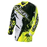 O'Neal Element Jersey Shocker Schwarz Gelb Hi-Vis Moto Cross Enduro Downhill Trikot, 0024S-60, Größe S