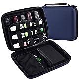 PAIYULE USB-Flash-Laufwerksgehäuse,Festplatte zur Aufbewahrung von Reisen, Eva-wasserdichter elektronischer Zubehör-Organiser-Halter für Sandisk, WD und alle Flash-Laufwerke (blau)