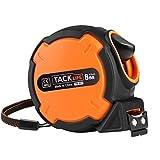 Tacklife TM-B03 Klassisches Bandmaß 8M, mit Feststeller und automatischem Rücklauf Funktion, Kunststoffgehäuse, Messung von Haushalt, Zimmerei