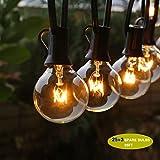 Give U Lichterketten, G40 im Freienschnur-Glühlampen Listed,Outdoor-String Lichter, StarryFairy Lichter für Garten Dekor, Outdoor Dekor (25 Birnen+ 3 Ersatzbirnen)