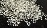 600 Stück Mischung glitzernde Deko Diamanten Brillianten Strasssteine Acrylsteine verschiedene Größen 11mm + 7mm + 5mm transparent klar kristall basteln Gltzersteine Schmucksteine Strass Steine zum Verzieren Dekorieren von CRYSTAL KING