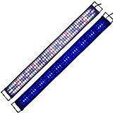 Aquarium beleuchtung Aquarien Eco Tageslichtsimulation Beleuchtung LED Aquarium Blau Weiß Rot voll Spectrum LED Reef Coral Fish Aquarium Licht Wasserpflanzen Gewächshaus Lichter Pflanzen Wachstumslampe für Süßwasser Meerwasser 60CM 90CM 120CM (120cm) KA145