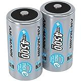 ANSMANN LSD Baby C Akkubatterien, 1,2V / Typ 4500mAh / NiMH Hochleistungsakkus mit geringer Selbstentladung & hoher Langlebigkeit - ideal für Fernbedienung, Spielzeug, Werkzeug, uvm., 1 x 2 Stück