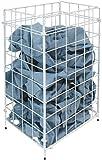 Abfallkorb, Sammelkorb, Papierkorb 54 Liter Metall weiß