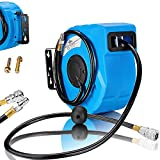 Druckluftschlauch Aufroller automatisch【10m】 1/4 Anschluss - Schlauchtrommel Wandschlauchhalter Schlauchaufroller Druckluftschlauch-Aufroller