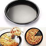 Queta Pizza-Backform, verdicktes Pizza-Backblech, rund, 15,2 cm grau grau 17,8 cm (7 Zoll)