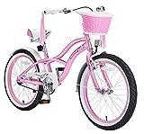 BIKESTAR Premium Sicherheits Kinderfahrrad 20 Zoll für Mädchen ab 6 - 7 Jahre  20er Fahrrad für Kinder Cruiser Kinderrad  Pink