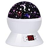 Sternenhimmel Projektor Lampe Kinder, LED Nachtlicht Rotierend mit 4LED Birnen, 8 Licht Modus und 2 Energieversorgung, Timer-Schalter Sky-Star Night Light für Zimmer Festival Dekoration oder Geschenk