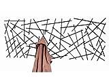 Wandgarderobe Sticks 42862 aus anthrazitfarbenem Metall mit 7 Haken