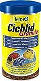 Tetra Cichlid Granules, Hauptfutter Mix für mittelgroße Cichliden, 2 verschiedene Granulate, 500 ml Dose