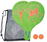 Schildkröt Funsports Neopren Strand und Gartenspiel für Die Ganze Familie, 970219 Beachball Set, Grün/Orange