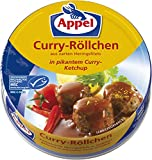 Appel Curry-Röllchen, aus zerkleinerten Heringsfilets in pikantem Curry-Ketchup, MSC zertifiziert, 12er Pack (12 x 200 g)